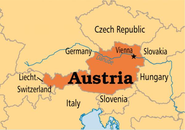 نقشه اتریش