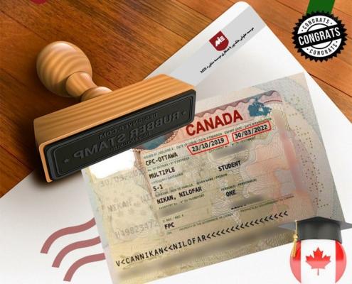ویزای تحصیلی کانادا-خانم نیلوفر نیکان